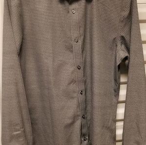 Men's long sleeve button-down dress shirt